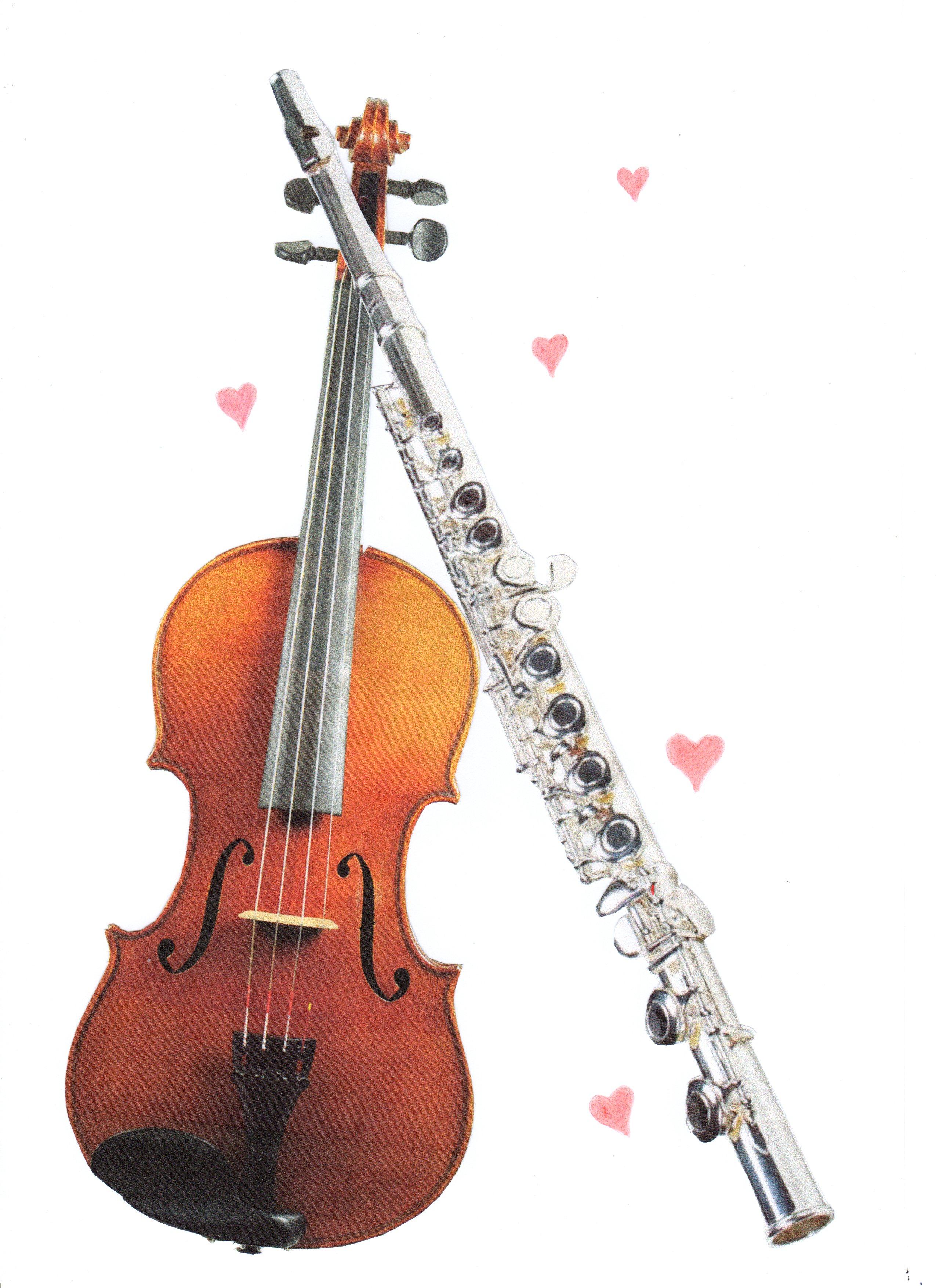 Geige u Flöte m Herzen